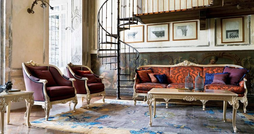バロック・ロココ調イタリア高級家具シリックのレイアウト例